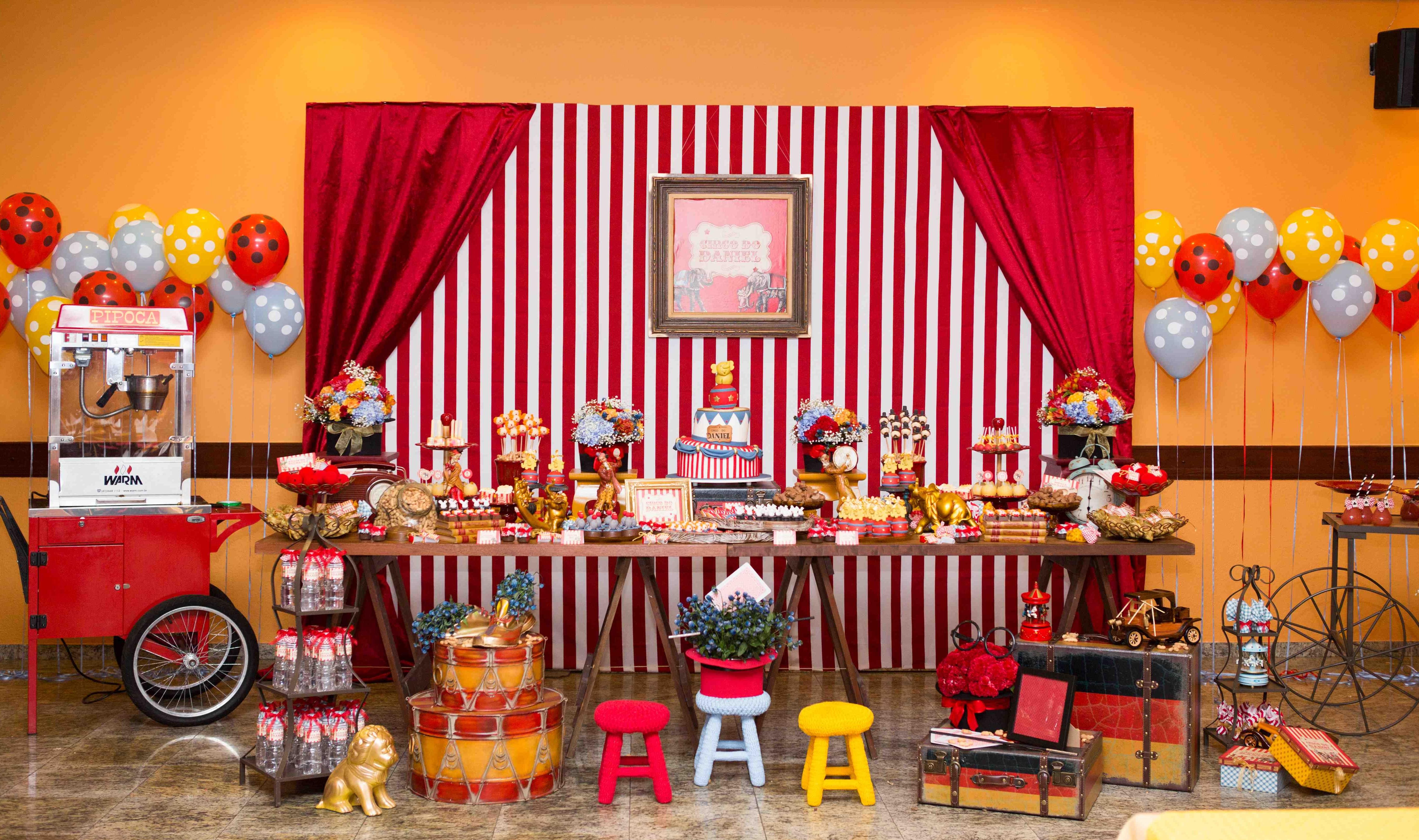 decoracao festa retro : decoracao festa retro:Decoração Festa Infantil Circo Vintage! – Be Happy Decorações